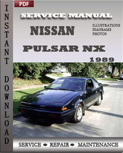 service and repair manuals 1993 nissan nx electronic toll collection nissan pulsar nx 1989 service manual pdf global service manuals