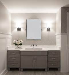 Bathroom Cabinet Designs White And Grey Bathroom Transitional Bathroom Cory