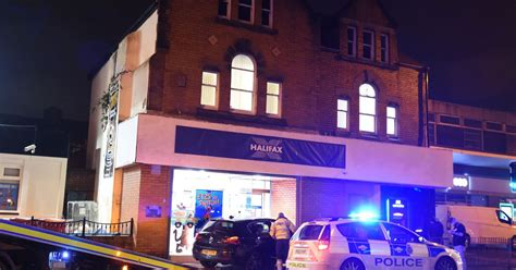 halifax bank liverpool pictured bmw smashes into halifax bank in swan