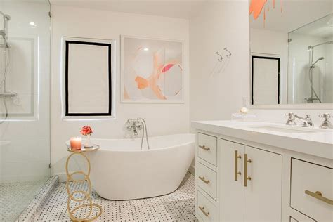 Little luxury 30 bathrooms that delight with a side table for the bathtub