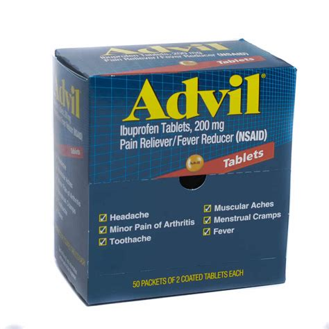 tattoo pain relief tablets advil ibuprofen 200mg tablets for pain relief and fever