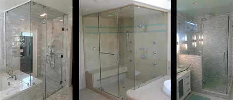 custom frameless glass shower doors custom frameless glass shower doors by a glass company