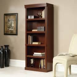 Sauder Bookcase Cherry Sauder Heritage Hill 5 Shelf Library Bookcase Cherry Walmart