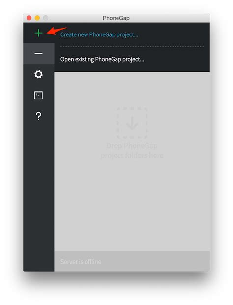phonegap project template step 3 create your app phonegap docs