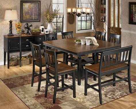 counter height dining room furniture owingsville square counter height extendable dining room