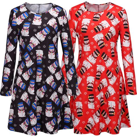 christmas pattern dresses 2015 fashion lovely sisters matching christmas dresses with