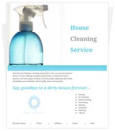 Cleaning Flyers Templates by Free House Cleaning Flyer Template By Cleaningflyer