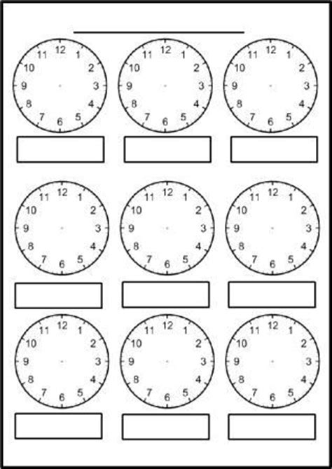 free printable blank clock faces worksheets math thinks