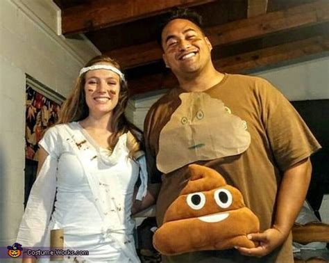 poop  toilet paper couple costume