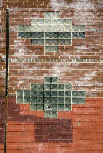 art deco glass bricks brick wall gowanus brooklyn via