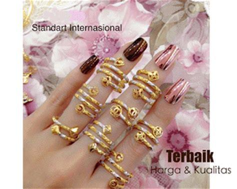 Cincin Nama Spiral Lapis Emas 10 display stock perhiasan kalung cincin spiral emas kadar 10 k