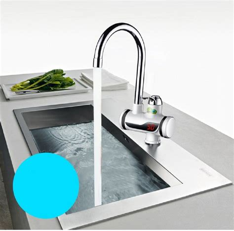 instant water kitchen sink temperature display instant water heater tap hotel
