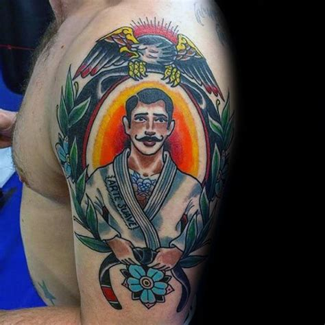 tattoo inspiration male arm 70 jiu jitsu tattoos for men masculine martial art