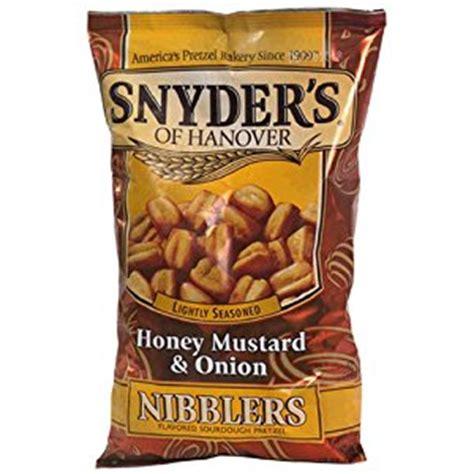 Snyders Snyders Honey Mustard 125gr snyder s of hanover honey mustard nibbler pretzels 10 ounce packages pack
