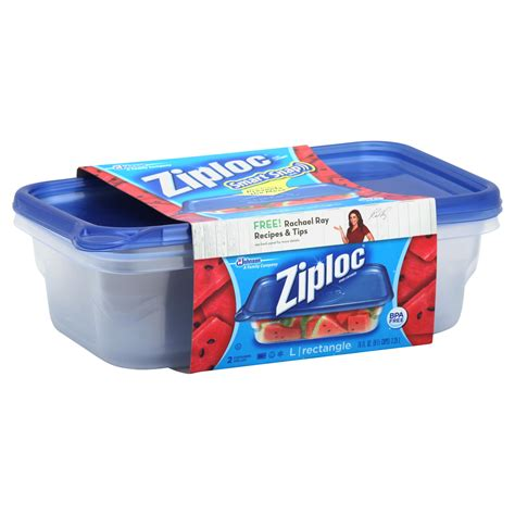 ziplock storage containers ziploc smart snap seal containers and lids rectangle