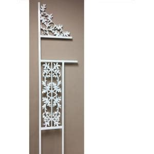 grisham decorative steel mailbox post white maildblpstwh