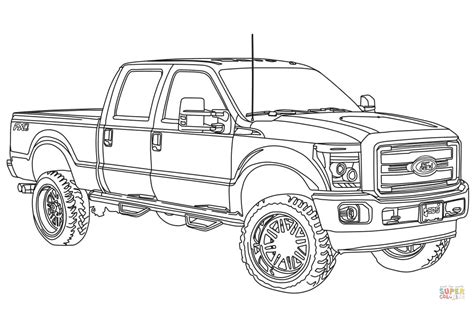 Ford Coloring Pages 2014 ford f250 lifted coloring page free printable coloring pages