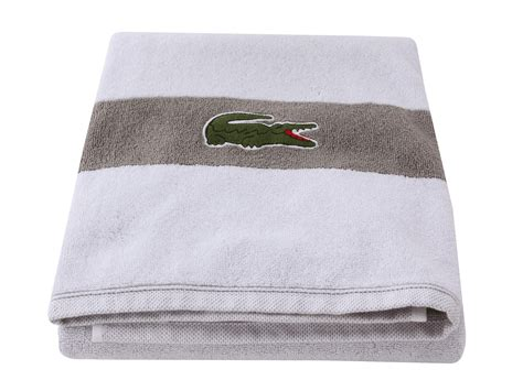 lacoste signature croc bath shipped free at zappos
