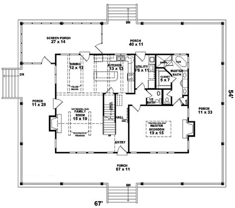 Floor Plans 3 Bedroom 2 Bath floor plans with wrap around porches home planning ideas