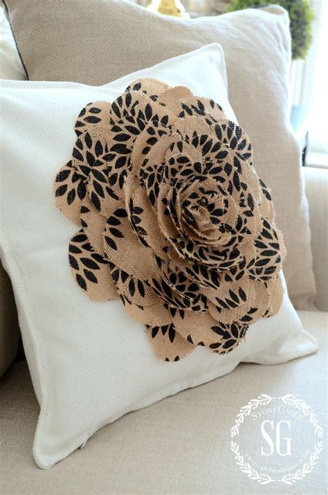 No Sew Burlap Pillow by No Sew Burlap Flower Pillow Stonegable