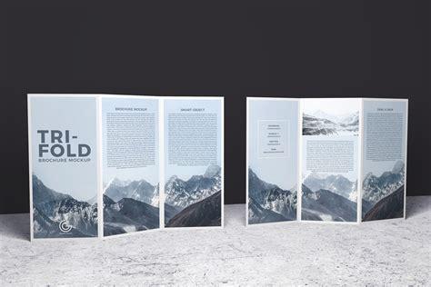 sided tri fold brochure template brochure mockup in psd for free designhooks