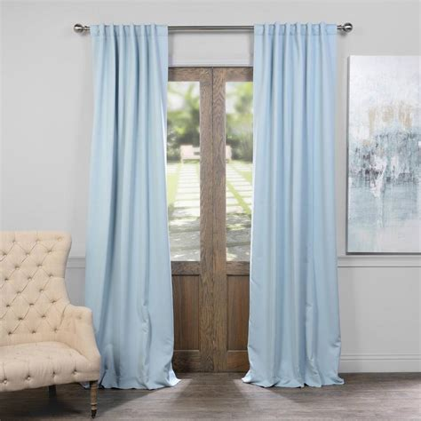 blackout curtains pair exclusive fabrics furnishings frosted blue blackout