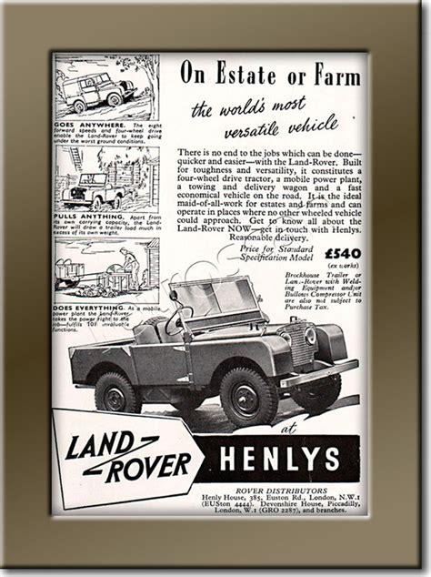 vintage land rover ad 1950 land rover vintage magazine ad retrofair