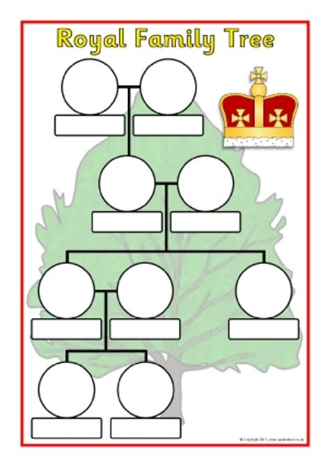 printable royal family tree the royal family primary teaching resources and printables