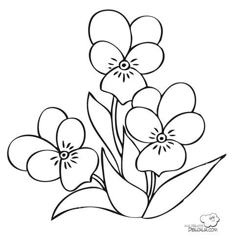 dibujos infantiles con animales flores y plantas en tres flores para el jardin dibujalia dibujos para