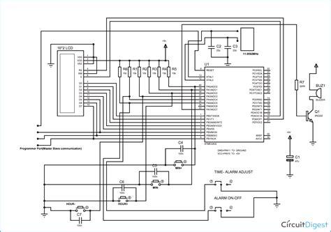 digital alarm clock  avr microcontroller atmega