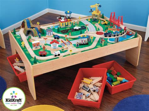 train set and table kidkraft waterfall mountain train set and table review