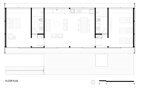Rectangular Sumer Fresh floor plan small summer house in s 227 o roque brazil
