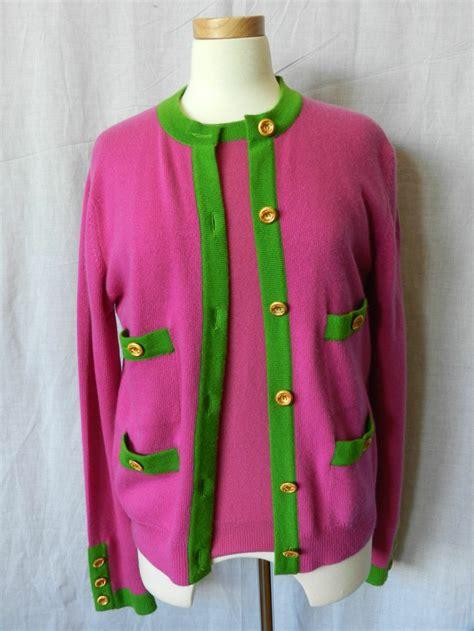 chanel pink and green sweater set alpha kappa alpha