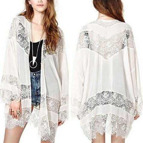 Dress Wanita Sleeve Chiffon Vintage Dress Birumr483 plus size s 5xl womens casual vintage boho kimono cardigan lace crochet chiffon blouse