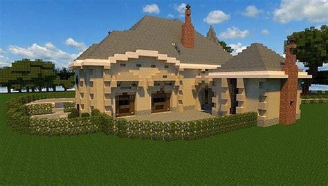 french country manor minecraft house design