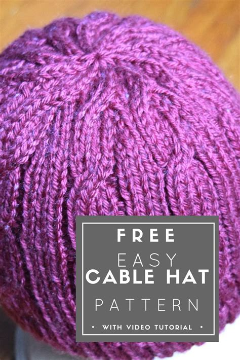 free knitting pattern simple hat 1000 images about knitting free patterns on pinterest
