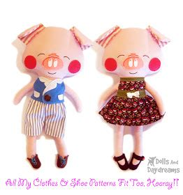 My Well Dressed Tech Toys 2 by Dolls And Daydreams Doll And Softie Pdf Sewing