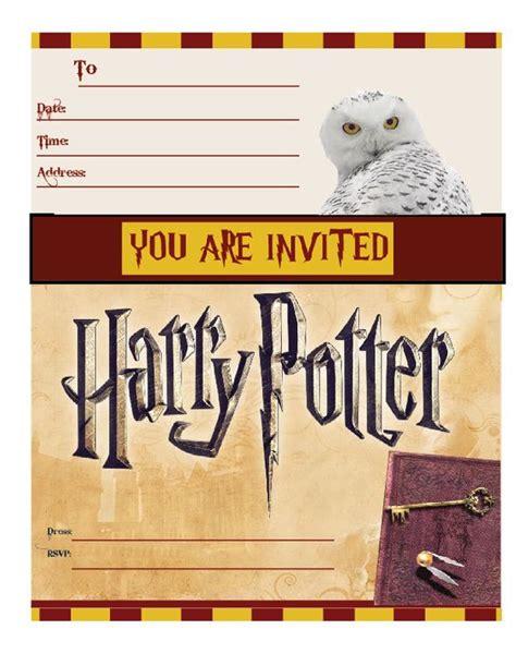 Harry Potter Invitations Harry Potter Party Invitations Printable Free Harry Potter Harry Potter Invitation Template Free