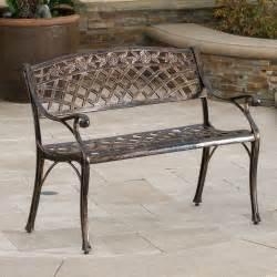 outdoor patio bench chair metal garden furniture backyard