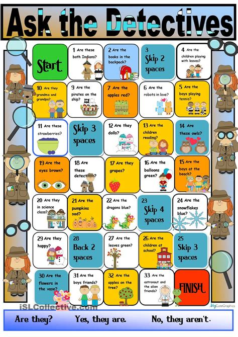 verb pattern board game detective boardgame for the verb to be third person plural