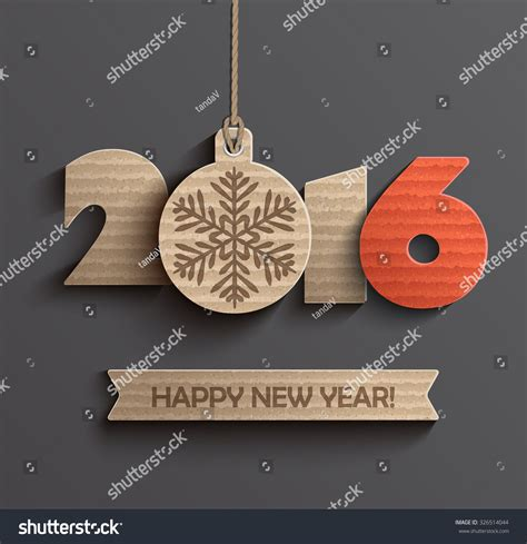 creative happy new year 2016 creative happy new year 2016 design stock vector 326514044