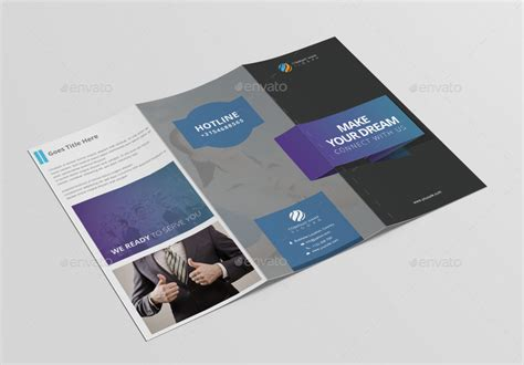 nice tri fold brochure template design by