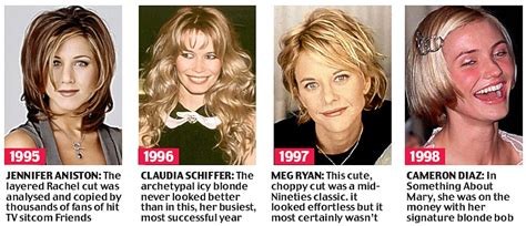 what were the black hairstyles images in 1995 beyond the fringe from the purdey to the rachel 50 years