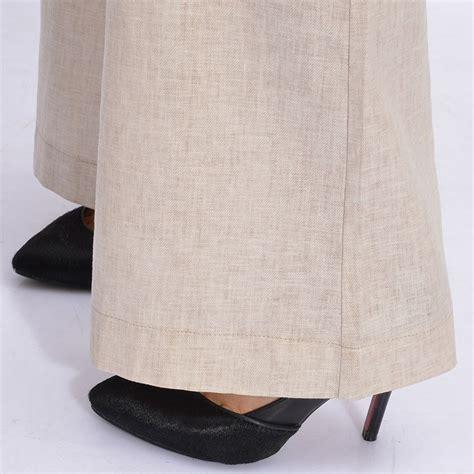 Linen China Koran top quality breathable linen korea boot cut flare pant uniformsell
