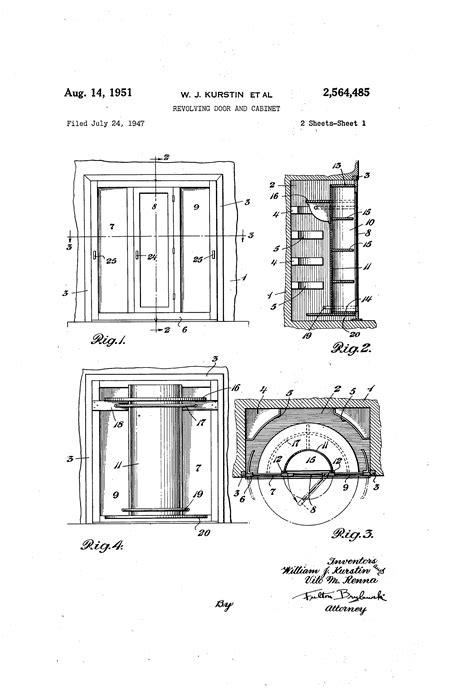 revolving door section patent us2564485 revolving door and cabinet google patents