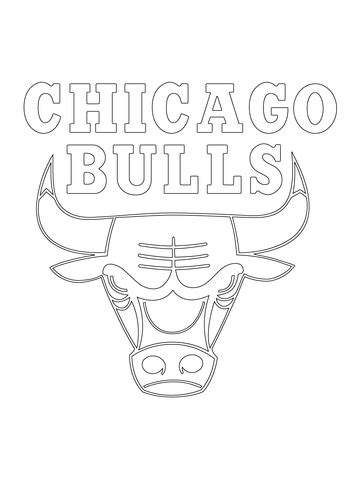 Chicago Bulls Logo Coloring Page Supercoloring Com Chicago Bulls Coloring Pages