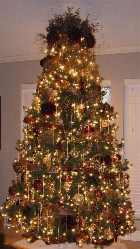 gold and burgundy tree christmas trees pinterest