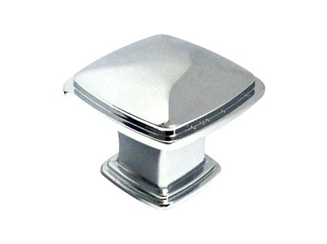 square chrome cabinet knobs polished chrome 1 1 4 quot cabinet square knob 31mm