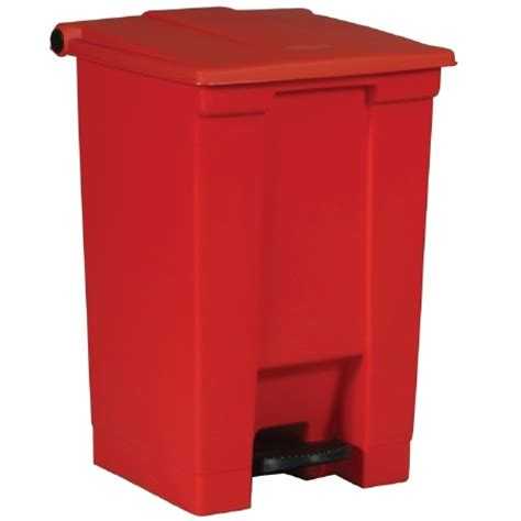 15 inch trash rubbermaid step on trash can 16 1 2w x 15 3 4d x 23 5 8h