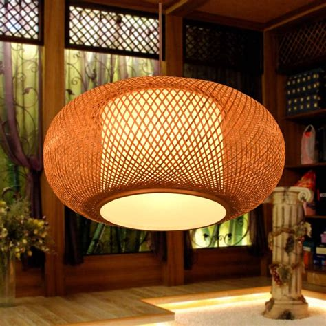 bamboo chinese style antique dining room pendant lights